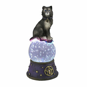 Zeckos Majestic Wolf LED Light Crystal Ball Statue Pagan Wicca Pentacle