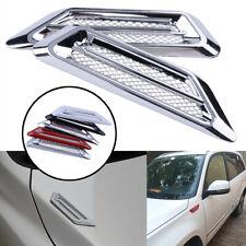 Pair Chrome Silver Car Exterior Hood Air Flow Fender Side Vent Intake Decoration