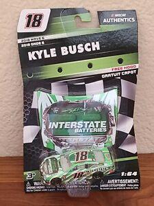 2018 Wave 6 Kyle Busch Interstate Batteries 1/64 NASCAR Authentics Diecast