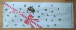 Stollenbeutel, Pergaban,  keine Folie, Motiv Schleife, 20x7x46 cm, 1 Stück