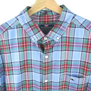 Vineyard Vines Classic Fit Tucker Mens button down shirt size L Plaid checks