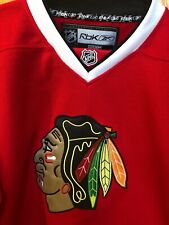Chicago Black Hawks RBK center Ice Hossa Jersey size Youth Large NWT