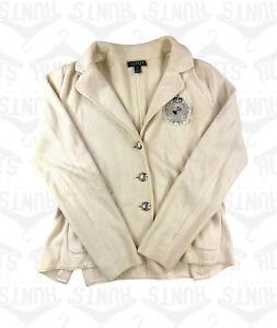 Cream Ralph Lauren Blazer/Sweater   Medium