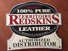 Vintage rare plaque publicitaire émaillée vêtements REDSKINS Leather 1980 80's