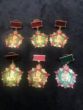 6 Pc Lot. Vintage Badge of the Kgb Ussr Excellent Border Guard Soviet Russia S