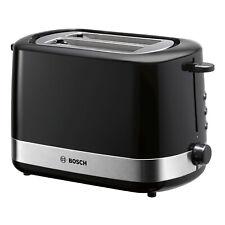Bosch TAT7403 2 - Schlitz Toaster Brötchen-Aufsatz Krümelschublade schwarz