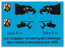 Peddinghaus  1/72 1374 F 104 G Starfighter Kanarienvogel letzter Flug Jabo 33 30