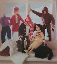 KNITTING PATTERN for Sindy and Ken 11- 12 inches tall  Dolls cloths 653