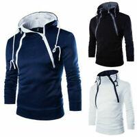 Fit Hooded Men's Sweater Coat Winter Warm Outwear Slim Sweatshirt Jacket Hoodies