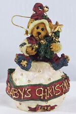 Boyds Bearstone Ornament, Baby'S Christmas, #25954, '98 Limited Ed, New