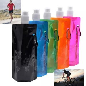 2 X 500m  Foldable running/outdoor activities water bottle, ,fully collapsible.