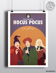 HOCUS POCUS Minimalist Art Movie Poster Minimal Print by Posteritty A4/A3 Card