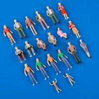 20pcs 1:30 G Scale Passenger People Figures Painted Model Train Scene Layout