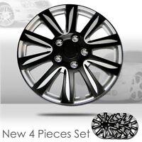 New 15 inch Hubcaps Black Rim Wheel Covers Hub Cap Full Lug Skin Set 546
