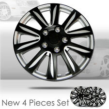 New 14 inch Hubcaps Black Rim Wheel Covers Hub Cap Full Lug Skin Set 546