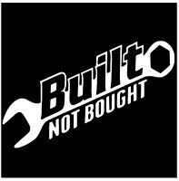 Funny Built Not Bought Car Sticker Decal For JDM Drift Hoon illest Turbo