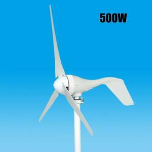 500W Wind Turbine Generator Kit 3 Blades Charge Controller Home Power 12V