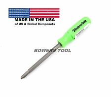 Enderes Tool Pocket 2 in 1 Green Screwdriver Phillips Flat Made In USA 2-1