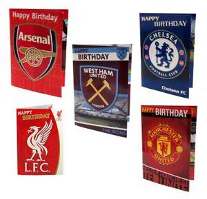 Official Football Team Happy Birthday Card Dad Son Badge Envelope Boys Soccer