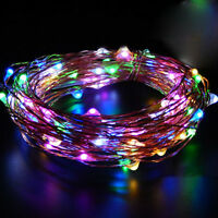 20/30/40 LED String Battery Operated Copper Wire Fairy Lights Xmas Party Decor