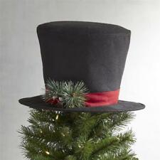 Pier 1 Imports Black Top Hat Tree Topper Christmas NWT