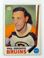 TOPPS PHIL ESPOSITO #30 Boston Bruins Hockey Card 1969-70