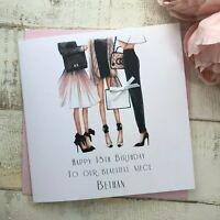 Handmade Personalised Birthday Card Daughter Sister Wife Fiancee Friend Nan Mum