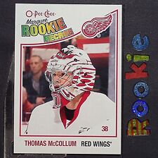 THOMAS McCOLLUM  RC  2010/11  O-Pee-Chee  ROOKIE  #618  Detroit Red Wings