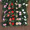 2,4m 11Heads de seda artificial rosa flor hiedra vid colgante guirnalda de boda