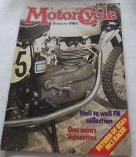A The Classic Motorcycle Magazine January 1984