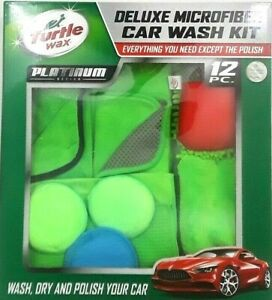 Car Wash Kit Turtle Wax 12 Pc Deluxe Microfiber Platinum Series Microfiber Towel
