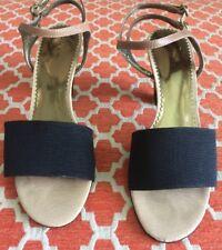 Tahari Women's Shoes, Geneva Black/Nude Open-Toe Sandals 9 M