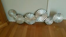 BRAND NEW WALL ART . SILVER. METAL .HOME,FRENCH,BROWN,GARDEN,CHIC,PROVENCIAL