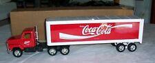1997 COCA COLA INTERNATIONAL ERTL PRESSED STEEL TRACTOR TRAILER TRUCK