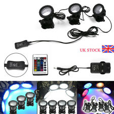 1 Set 3 Lights RGB LED Underwater Spot Light Submersible Fountain Pond Lamp