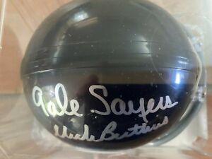 Gale Sayers Dick Butkus autograph Bears mini helmet Mounted Memories