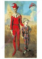 CARTE POSTALE ART PABLO PICASSO Acrobate et jeune arlequin