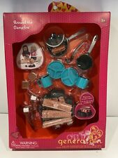"""New Our Generation Around the Campfire Playset for 18"""" Dolls - Smores Pots Pans"""