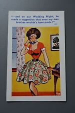 R&L Postcard: Comic Coastal Cards Trow Large Boob Telephone Woman 1950s Clothes