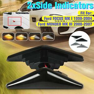 Pair Flowing LED Side Indicator Blinker Light For Ford Falcon MONDEO FG XT XR6