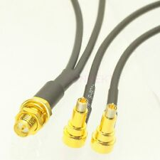 1pc RP-SMA female to Y type 2X MS156 male Splitter Combiner cable pigtail RG174
