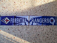 sciarpa FIORENTINA - GLASGOW RANGERS europa league 2008 club calcio scarf a2