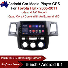 "9"" Android 9.1 Car Stereo non dvd usb GPS Head Unit For Toyota Hilux 2005-2011"