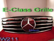 Mercedes W211 Grill E320 E500 E55 Grille E350 Black AMG  5 Fins 2003~2006