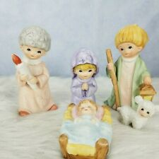 Vintage Homco Children's Nativity 5 Piece Figurine Set #5602 Christmas