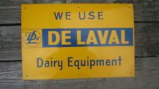 VINTAGE DELAVAL TIN LITHO DAIRY EQUIPMENT SIGN CREAM SEPARATOR