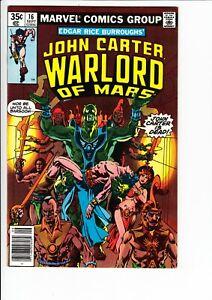 JOHN CARTER WARLORD OF MARS #16 (Marvel 1978): COLON ART  --  FN/VF