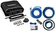 Rockford Fosgate Prime 500 Watt Max Amplifier Car Monoblock Sub Amp + 8 Ga. KIT