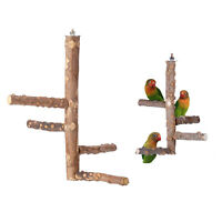 Natural Wood Bird Perch Parrot Stand Wooden Perches Paw Grinding Chew Toy