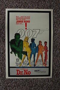 Dr. No Lobby Card Movie Poster James Bond Sean Connery #1